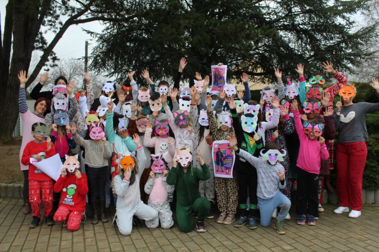 Vendredi 13 mars : journée mondiale du pyjama, notre école participe...